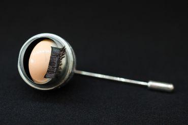 Auge Krawattennadel Miniblings Anstecknadel Krawattenhalter Halloween Mensch – Bild 3