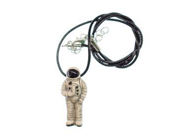 Astronaut Kosmonaut Kette Miniblings Raumfahrer All Weltraum Leder Keramik – Bild 1