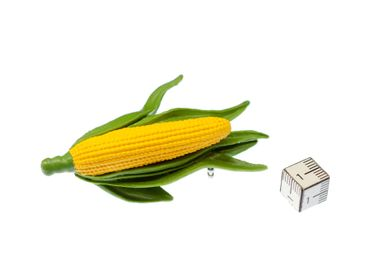 Corncob Corn Brooch Miniblings Pin Vegetable Healthy Food Eating Rubber 7cm – Bild 2