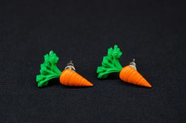Carrot Carrot Beet Earrrings Ear Studs Miniblings Vegetables Carrots 22mm – Bild 3
