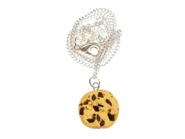 Cookie Kette Keks Miniblings 45cm Chocolate Chip Kekse Schokolade Schokosplitter – Bild 1