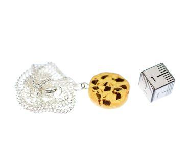 Cookie Kette Keks Miniblings 45cm Chocolate Chip Kekse Schokolade Schokosplitter – Bild 2