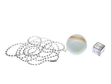 Marble Necklace Miniblings 80cm Toy Children Game White Game Glass Ball Marbles XL – Bild 2