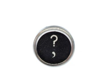 Request Letter Customized Brooch Pin Badge Miniblings Button Question Mark Black – Bild 1