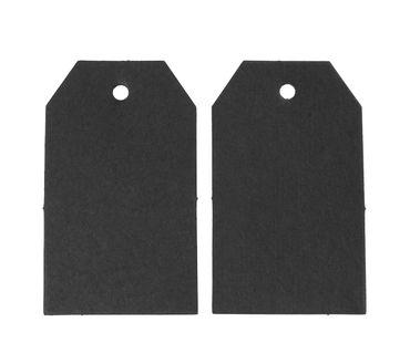 50 Geschenkanhänger Miniblings Geschenk Namensschild Etikett Anhänger schwarz – Bild 2