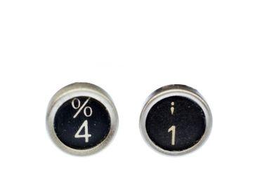 Zahl WUNSCH Pin Brosche Miniblings Anstecker Button Wunschzahl Nummer schwarz – Bild 2