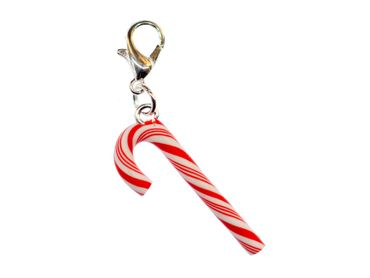 Candy Cane Charm Miniblings Candy Lollipops Christmas Cawaii Candy Red White 27mm – Bild 2