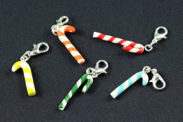 Candy Cane Charm Miniblings Candy Lollipops Christmas Cawaii Candy Red White 27mm – Bild 5