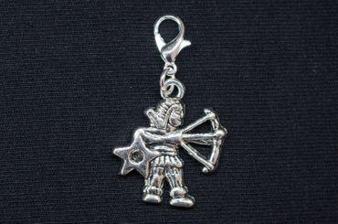 Schütze Charm Miniblings Anhänger Bettelanhänger Sternzeichen Horoskop Stern – Bild 3