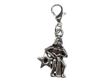 Aquarius Charm Miniblings Pendant For Bracelet Star Astrology Zodiac Horoscope – Bild 1