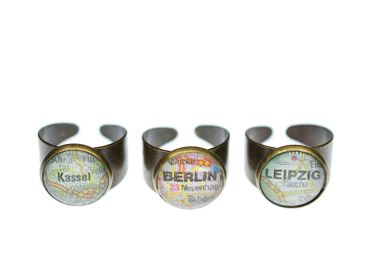CHOOSE YOUR TOWN Customized Ring Miniblings Cities City Berlin München Amsterdam – Bild 3