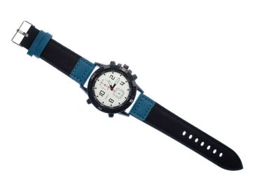 Men Women Watch Women Men Miniblings Time Black Blue – Bild 2