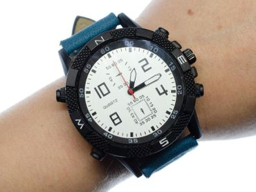 Men Women Watch Women Men Miniblings Time Black Blue – Bild 4