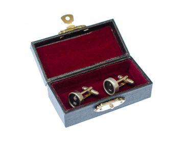 Equal Apostrophe E + Box Cuff Links Cufflinks Typewriter Keys Miniblings Vintage Black – Bild 1