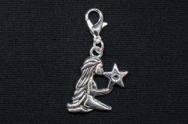 Jungfrau Charm Miniblings Anhänger Bettelanhänger Stern Sternzeichen Horoskop – Bild 3