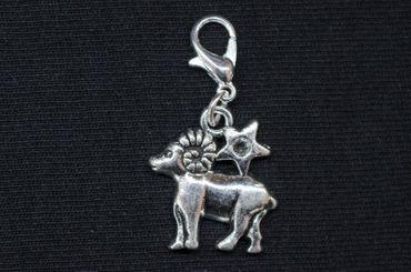 Widder Charm Miniblings Anhänger Bettelanhänger Stern Sternzeichen Horoskop – Bild 3