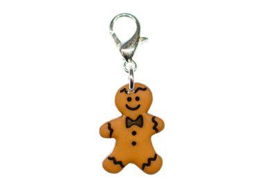 Gingerbread Man Charm Miniblings Weckmann Christmas Cookies Xmas Stutenkerl – Bild 1