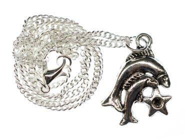 Fische Stern Kette Halskette Miniblings 45cm Sternzeichen Sternbild Horoskop – Bild 1