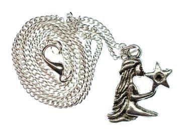 Jungfrau Stern Kette Halskette Miniblings 45cm Sternzeichen Sternbild Horoskop – Bild 1