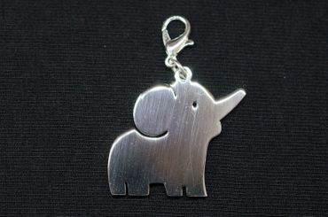 Elefant Charm Anhänger Bettelarmband Miniblings Charms Elefanten Tier Dickhäuter – Bild 3