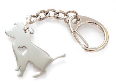 Hund Schlüsselanhänger Anhänger Miniblings Jack Russell Terrier Welpe Edelstahl – Bild 1