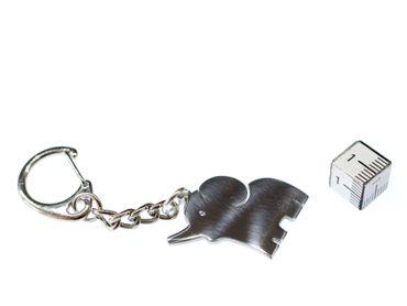 Elefant Schlüsselanhänger Miniblings Anhänger Big Five Elefantenbaby Afrika Zoo – Bild 2