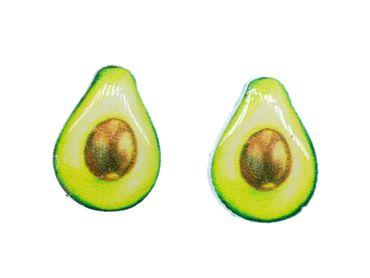 Avocado Ohrstecker Miniblings Stecker Frucht Essen Kawaii Sommer Kunststoff – Bild 1