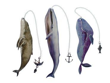 3x Wal Lesezeichen Miniblings Meer Ozean Buch Leseband Lesemarke Tier Leseratte – Bild 1