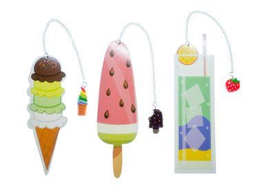 3x Eis Lesezeichen Miniblings Sommer Eiscreme Dessert Fruchtig Lesemarke Buch – Bild 1