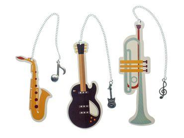 3x Musikinstrument Lesezeichen Miniblings Instrument Musik Buch Gitarre Trompete – Bild 1