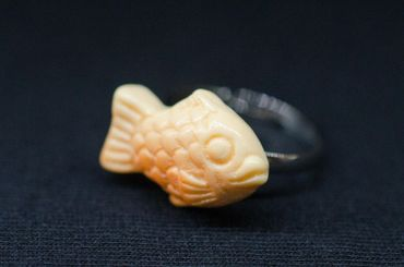 Fish Ring Miniblings Finger Ring Orange Ocean Sea Life Lake Fish Taiyaki – Bild 4