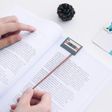 Cassette Bookmark Miniblings Book Music Book Ribbon Cassette Recorder Tape – Bild 2