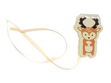 Deer Bookmark Miniblings Book Book Ribbon Animal Wood Fawn Forest Animal Antlers – Bild 1