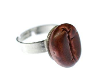 Coffee Bean Ring Miniblings Coffee Caffeine Drink Seed Breakfast Coffe Break – Bild 1