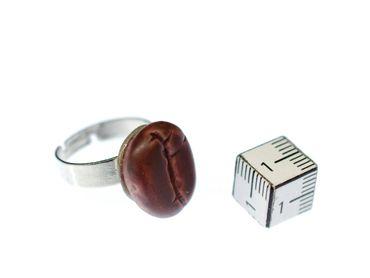Coffee Bean Ring Miniblings Coffee Caffeine Drink Seed Breakfast Coffe Break – Bild 2