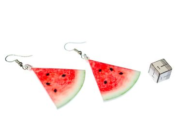 Melone Ohrringe Miniblings Hänger Wassermelone Obst Melonen Dreieck Melonenstück – Bild 4