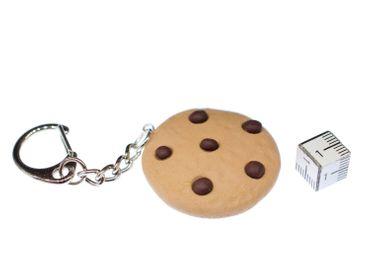 Cookie Key Chain Ring Miniblings Biscuit Chocolate Chips Christmas Handmade – Bild 3