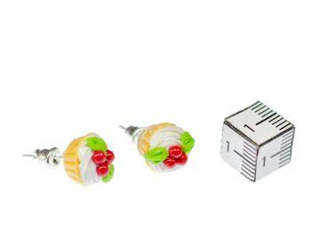 Cupcake Kuchen Ohrstecker Miniblings Törtchen Küchlein Torte Süßes Kirsche – Bild 2