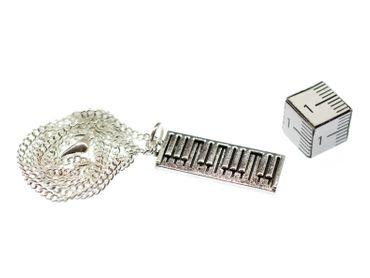 Klavier Tastatur Kette Klavier Piano Halskette Miniblings Musik Pianist 45cm – Bild 2