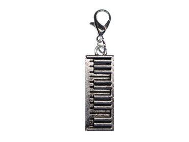 Klavier Tastatur Charm Miniblings Anhänger Bettelarmband Instrument Piano Musik – Bild 1