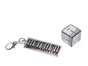 Piano Keyboard Charm For Bracelet Wristlet Dangle Miniblings Music Musician Instrument – Bild 2
