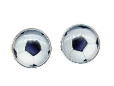 Football Ear Studs Earstuds Miniblings Earrings Goal Sport World Championship – Bild 1