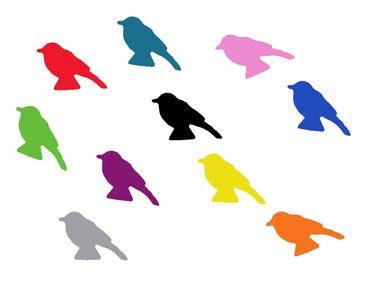 10x Bügelbild Bügelbilder Aufnäher Patch Miniblings GLATT Vogel 30mm Spatz – Bild 20