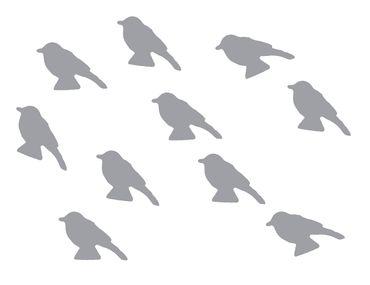 10x Bügelbild Bügelbilder Aufnäher Patch Miniblings GLATT Vogel 30mm Spatz – Bild 21
