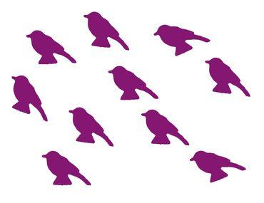 10X Patch Hotfix Iron On Motif Miniblings 30mm Glossy Gloss Sparrow Bird – Bild 1