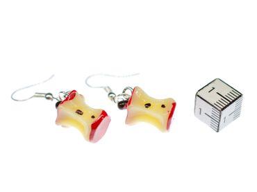 Apfelgriebs Ohrringe Miniblings Griepsch Butzen Kern Griebs Äpfel Obst Apfel mit Biss – Bild 3