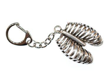 Rippen Schlüsselanhänger Miniblings Anhänger Medizin Mensch Lunge Metall Silber – Bild 1