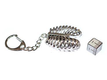 Rippen Schlüsselanhänger Miniblings Anhänger Medizin Mensch Lunge Metall Silber – Bild 2