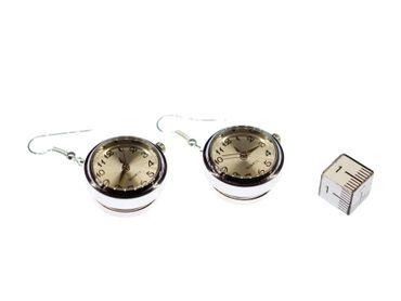 Uhr Funktioniert Ohrringe Miniblings Ohrhänger Snap Button Uhrzeit Armbanduhr – Bild 3
