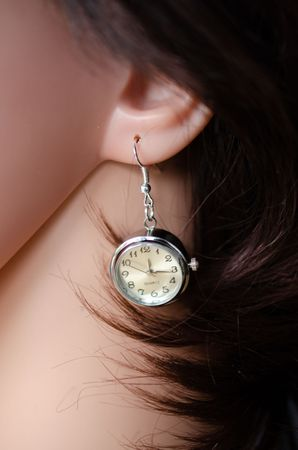 Real Watch Earrings Miniblings Clock Wristwatch Time Snap-Button Snap Button – Bild 4